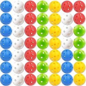 Multi-colored golf whiffle balls