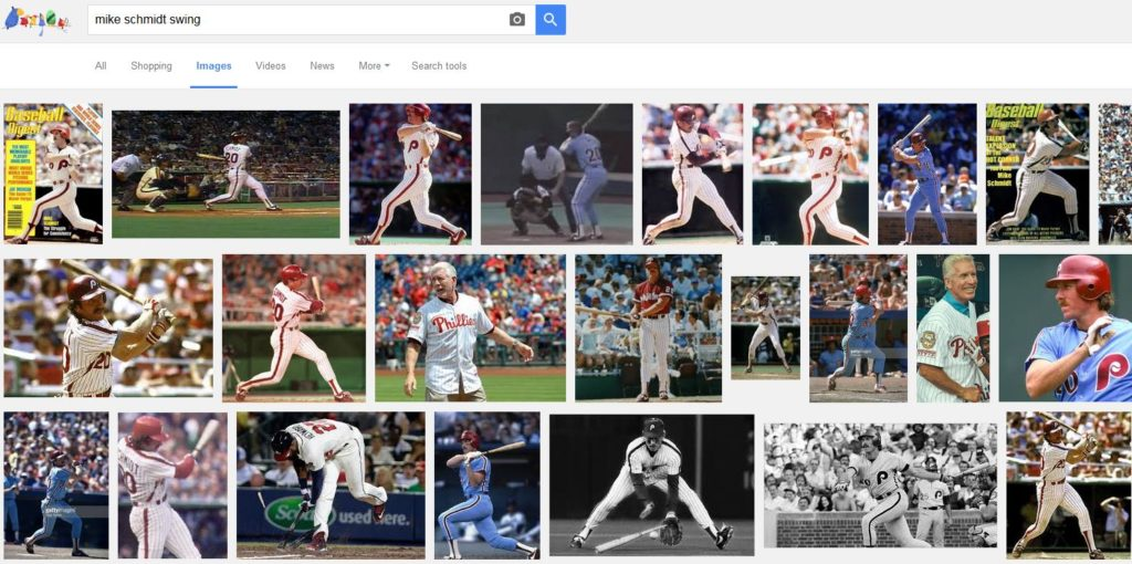 Google Images result for 'mike schmidt swing'