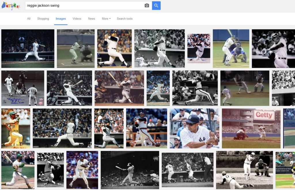 Google Images results for 'Reggie Jackson swing'