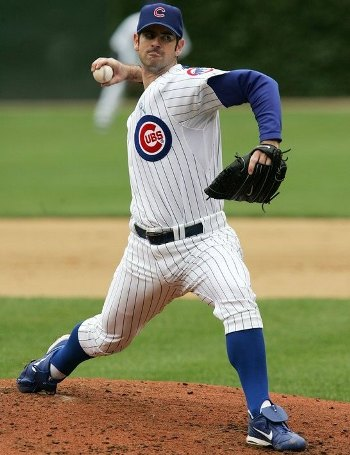 The Cubs' Mark Prior delivers the ball against the Detroit Tigers on June 18, 2006 at Wrigley Field in Chicago, Illinois (Photo by Jonathan Daniel/Getty Images)