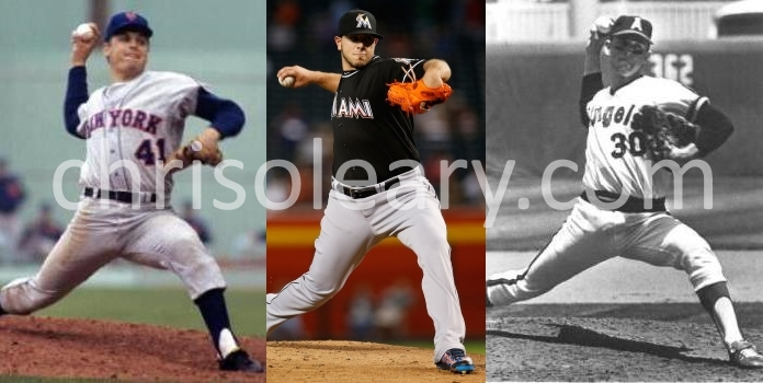 Seaver, Fernandez, Ryan at foot plant