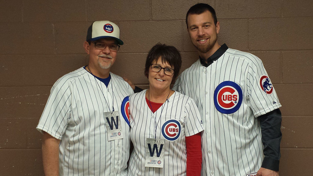 Dad Tom, mom Cynthia and Ben Zobrist