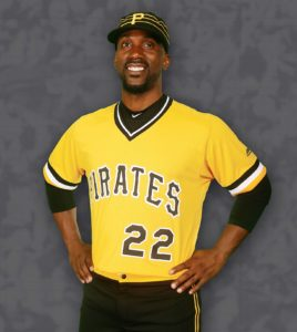 Andrew McCutchen rocks the throwback 1979 Pirates uniform