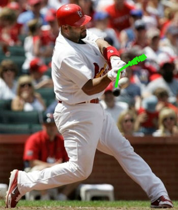Albert Pujols with Insider Bat overlay