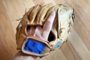 Glove with index finger out