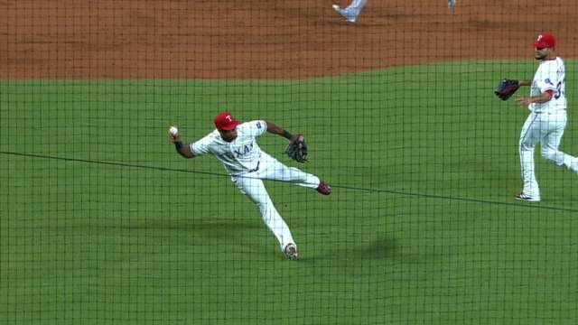 Adrian Beltre throws off balance