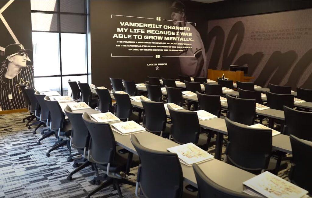 Vanderbilt baseball classroom