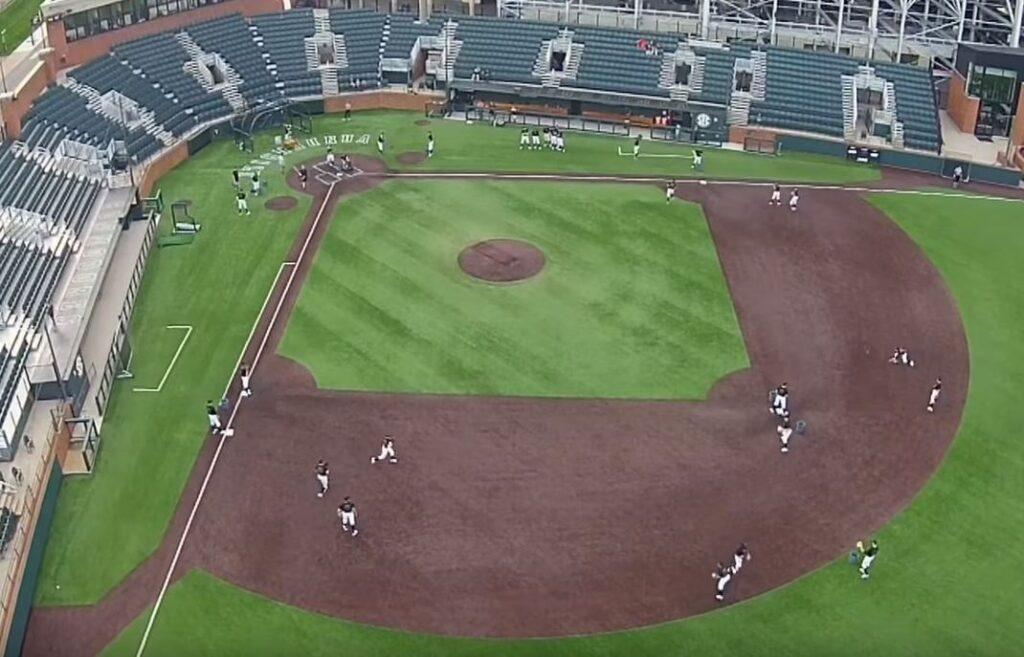 Vanderbilt 7-station infield practice