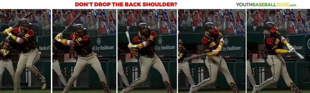 Don't drop the back shoulder?
